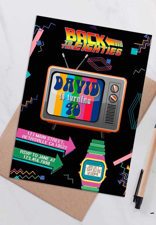 Faça uma festa estilo anos 80